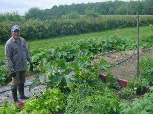 Aspirant Peter in the garden