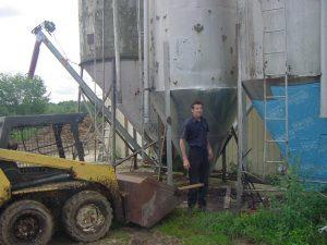 Br. Stephan on the farm.